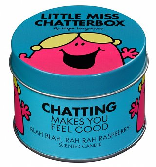 Little Miss Chatterbox Raspberry Scented Candle In Tin
