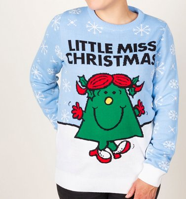 Little Miss Christmas Knitted Christmas Jumper