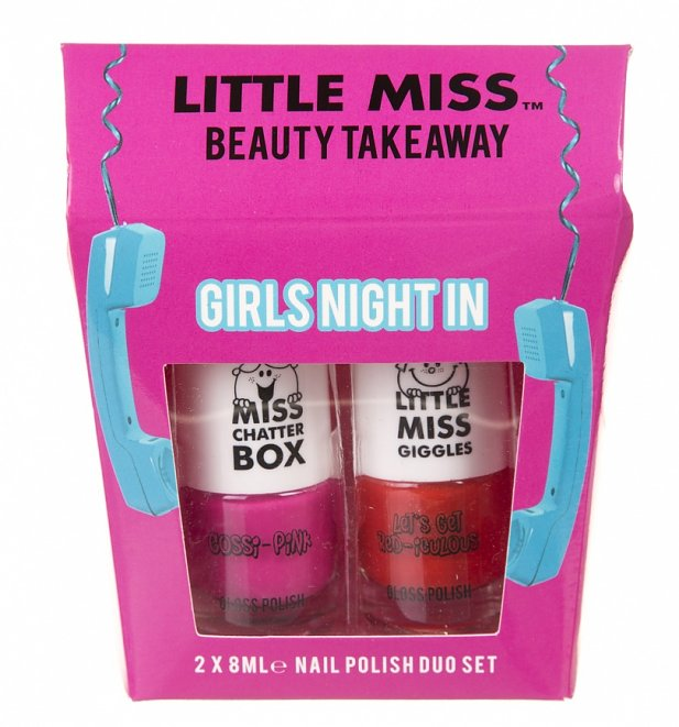 Little Miss Girls Night In Nail Varnish Duo Gift Set