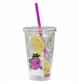Little Miss Naughty Drinks Cup With Straw