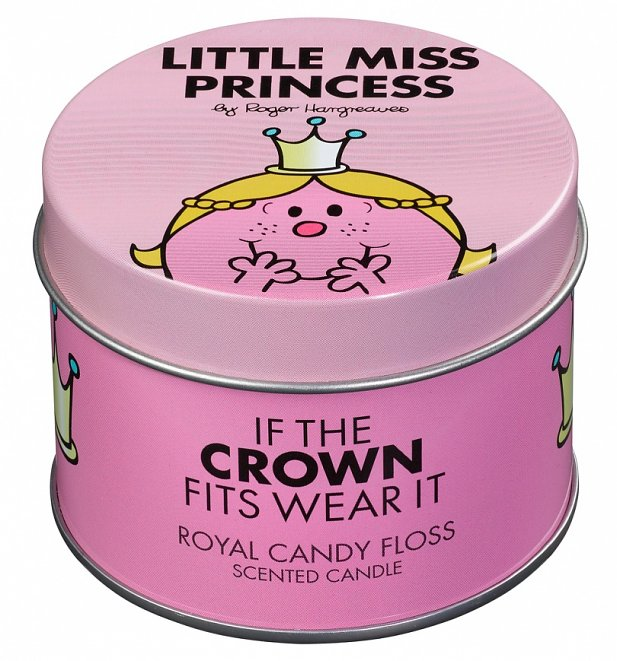 Little Miss Princess Candy Floss Scented Candle In Tin