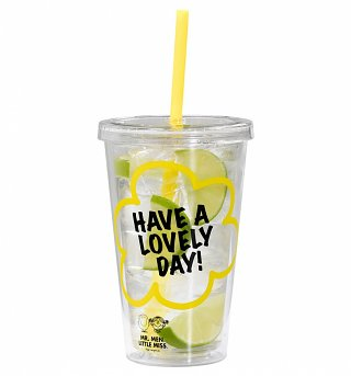 Little Miss Sunshine Drinks Cup With Straw