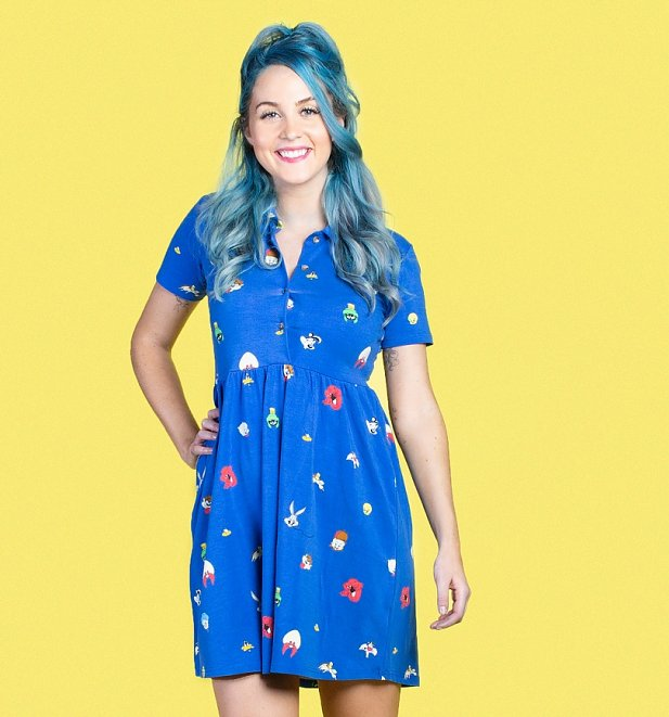 Looney Tunes Button Up Dress from Cakeworthy