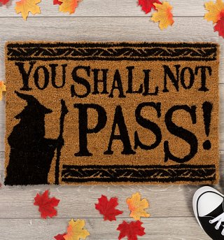 Lord Of The Rings You Shall Not Pass Door Mat