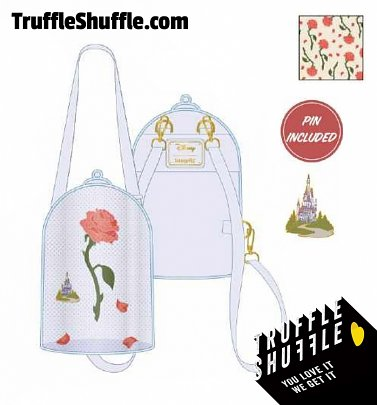 Loungefly Disney Beauty And The Beast Pin Collector Convertible Backpack