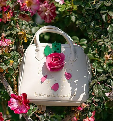 Loungefly Disney Beauty And The Beast Rose Crossbody Bag