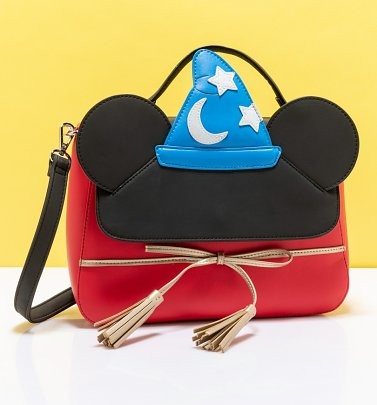Loungefly Disney Fantasia Sorcerer Mickey Cosplay Crossbody Bag