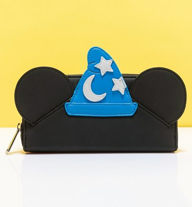 Loungefly Disney Fantasia Sorcerer Mickey Cosplay Zip Around Wallet