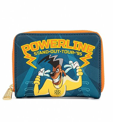 Loungefly Disney Goofy Movie Powerline All Access Pass Zip Around Wallet
