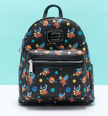 Loungefly Disney Lilo And Stitch Stitch In Space All Over Print Mini Backpack