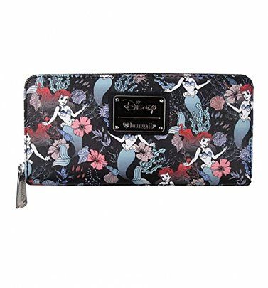 Loungefly Disney Little Mermaid Ariel Floral All Over Print Wallet