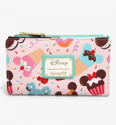 Loungefly Disney Mickey And Minnie Mouse Sweets Flap Wallet