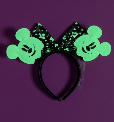 Loungefly Disney Mickey Mouse Ghost Ears Headband