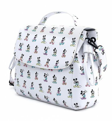 Loungefly Disney Mickey Mouse Pastel All Over Print Cross Body Bag