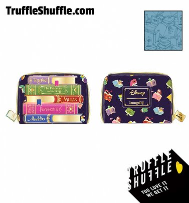Loungefly Disney Princess Books All Over Print Zip Around Wallet