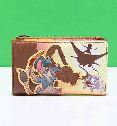 Loungefly Disney Rescuers Down Under Scene Flap Wallet