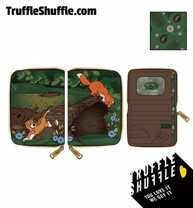 Loungefly Disney The Fox And The Hound Copper And Todd Zip Around Wallet
