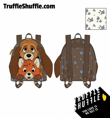 Loungefly Disney The Fox And The Hound Tod And Copper Cosplay Mini Backpack