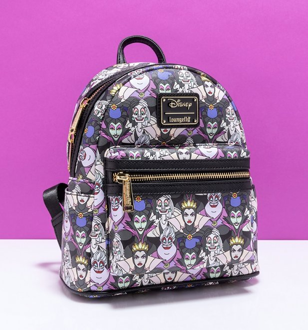 Loungefly Disney Villains All Over Print Mini Backpack