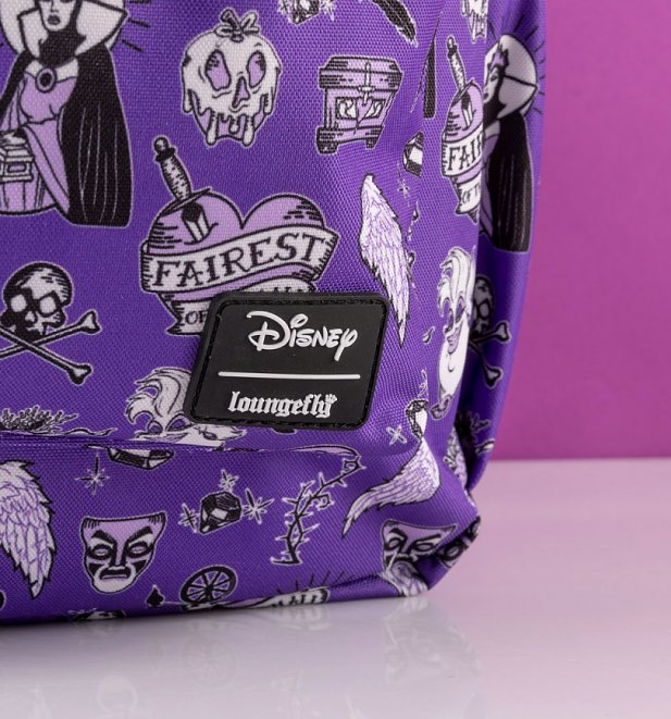 Loungefly Disney Villains All Over Print Nylon Backpack
