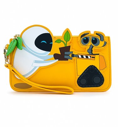 Loungefly Disney WALL-E And Eve Plant Boot Wristlet Wallet
