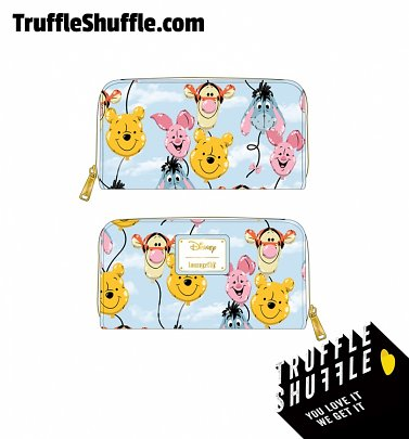 Loungefly Disney Winnie The Pooh Balloon Friends Zip Around Wallet