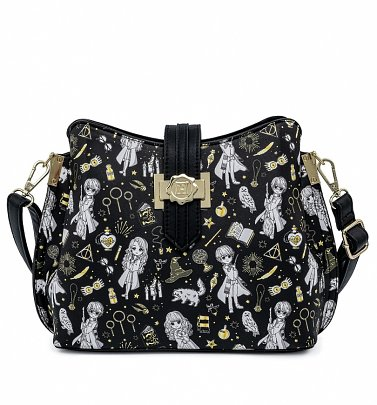Loungefly Harry Potter Magical Elements All Over Print Crossbody Bag