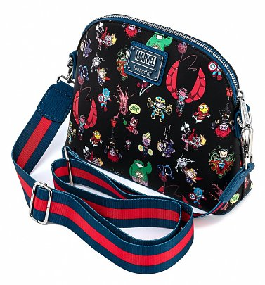 Loungefly Marvel Skottie Young Chibi Group Cross Body Bag