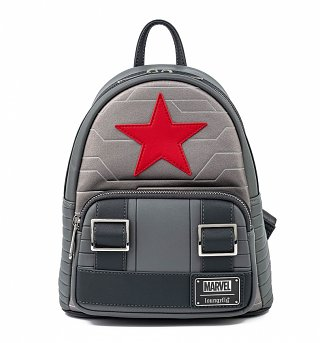 Loungefly Marvel Winter Soldier Cosplay Mini Backpack