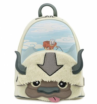 Loungefly Nickelodeon Avatar Aang Appa Cosplay Plush Mini Backpack
