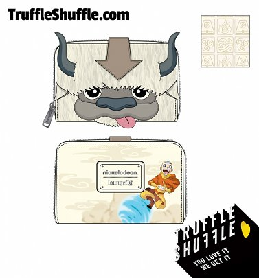 Loungefly Nickelodeon Avatar Aang Appa Cosplay Plush Zip Around Wallet