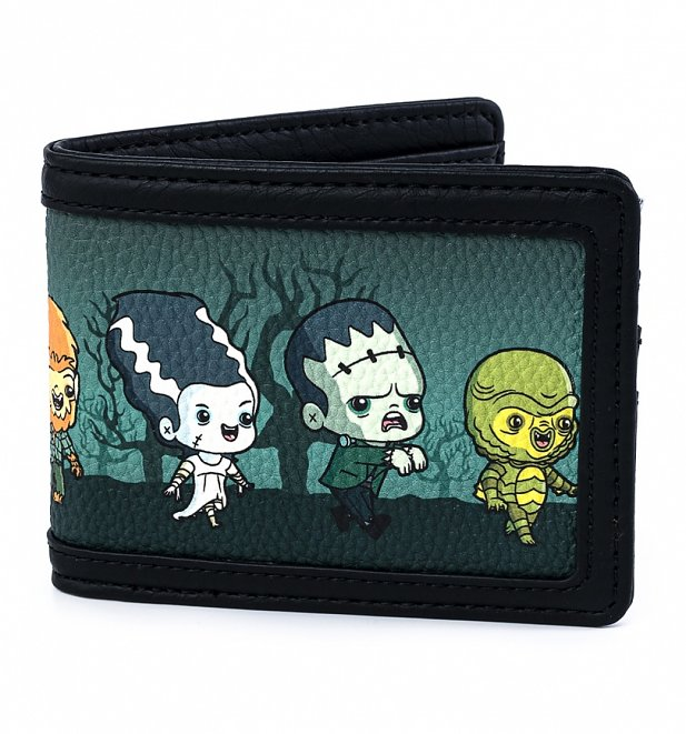 Loungefly Universal Monsters Chibi All Over Print Bi-fold Wallet
