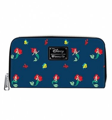 Loungefly x Disney Ariel, Flounder and Sebastian Little Mermaid Wallet