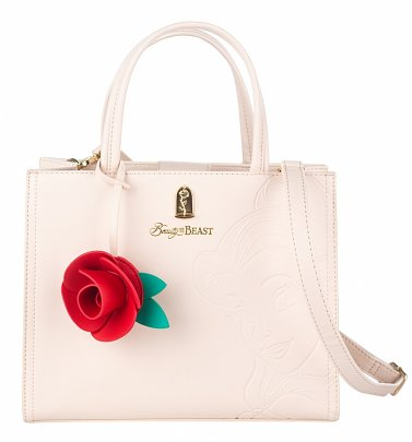 Loungefly x Disney Beauty and the Beast Belle Embossed Tote Bag