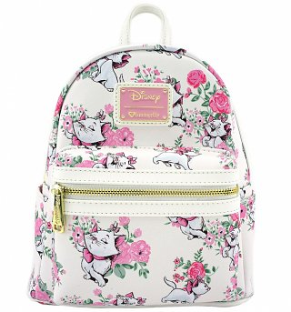Loungefly x Disney Marie Floral Mini Faux Leather Backpack