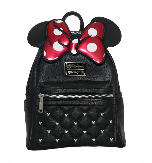 Loungefly x Disney Minnie Mouse Bow Mini Faux Leather Backpack