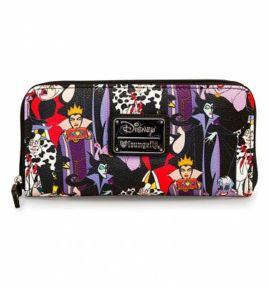 Loungefly x Disney Villains Full Colour Print Wallet