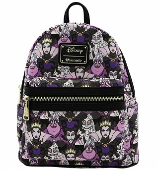 Loungefly x Disney Villains Print Mini Faux Leather Backpack