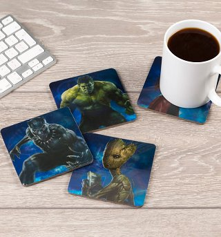 Marvel Avengers Infinity War Lenticular Coasters