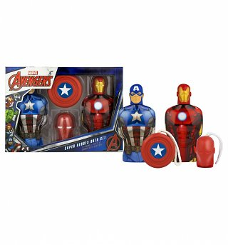Marvel Avengers Shower Gel And Soap On A Rope Gift Set