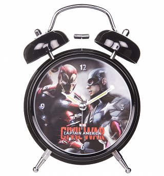 Marvel Comics Captain America Civil War Alarm Clock