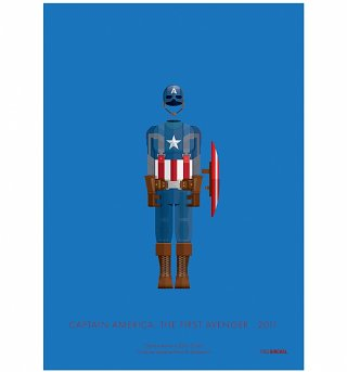 "Marvel Comics Captain America Costume 11"" x 14"" Art Print"