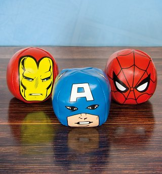 Marvel Comics Characters Set Of Three Juggling Balls