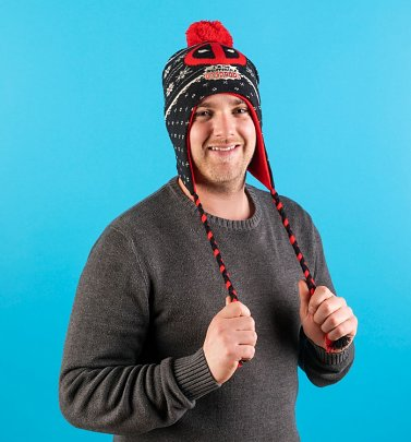 Marvel Comics Deadpool Knitted Laplander Hat from Difuzed