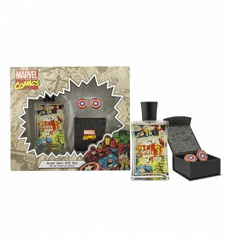 Marvel Comics Fragrance And Cufflinks Gift Set