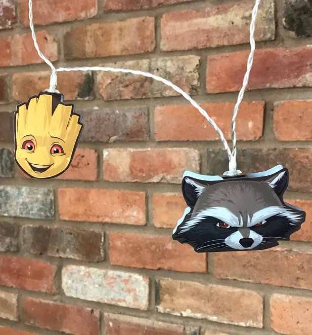 Marvel Comics Guardians Of The Galaxy Groot And Rocket Raccoon String Lights