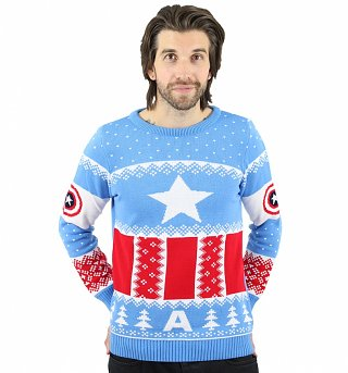 Marvel Comics Knitted Captain America Fair Isle Jumper