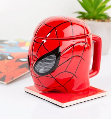 Marvel Comics Spider-Man 3D Mug With Lid