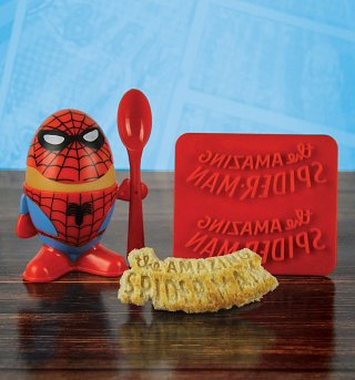 Marvel Comics Spider-Man Egg Cup and Toast Cutter