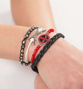 Marvel Deadpool Stacking Bracelets